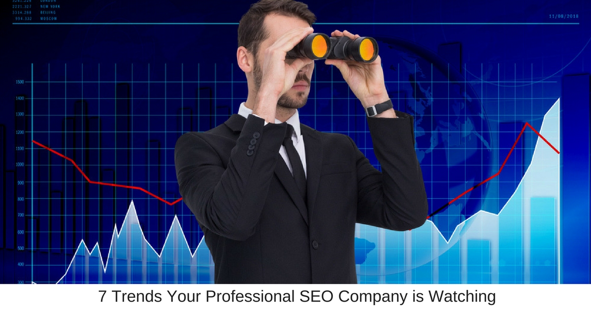 7 Trends Your Professional SEO Company is Watching - Business Marketing Engine